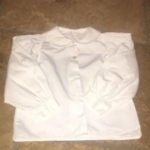 Peter Pan Collar White Button Down Uniform 6X